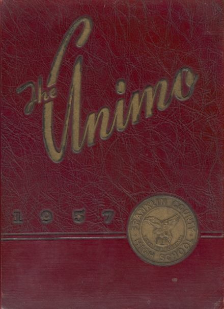 1957 Franklin County High School Yearbook Cover