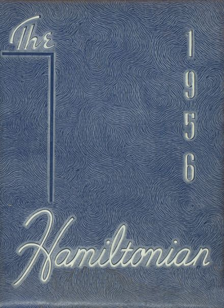 1956 Hamilton Township High School Yearbook Cover