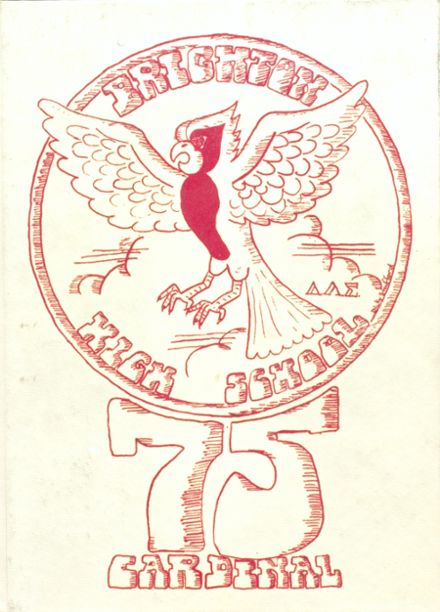 1975 Brighton High School Yearbook Cover