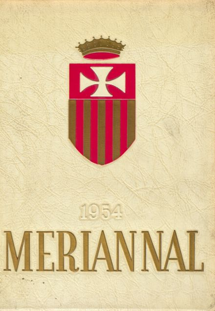 1954 Mater Misericordia Academy Yearbook Cover
