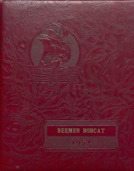 1954 Beemer High School Yearbook Cover