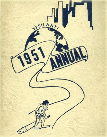 1951 Ypsilanti High School Yearbook Cover