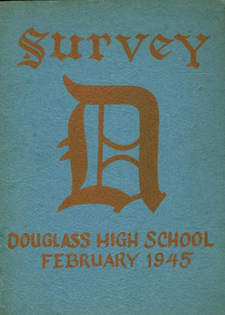 1945 Frederick Douglass High School 450 Yearbook Cover
