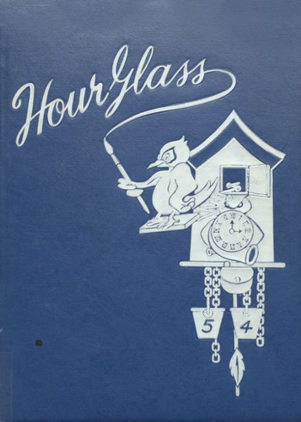 1954 Anniston High School Yearbook Cover
