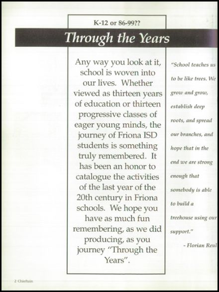 1999 Friona High School Yearbook Page 6