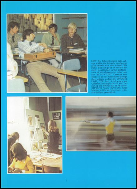 Explore 1973 St  Edward Central High School Yearbook, Elgin IL