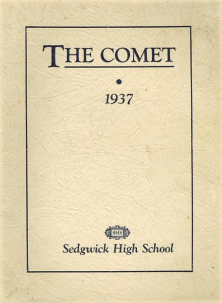 1937 Sedgwick High School Yearbook Cover