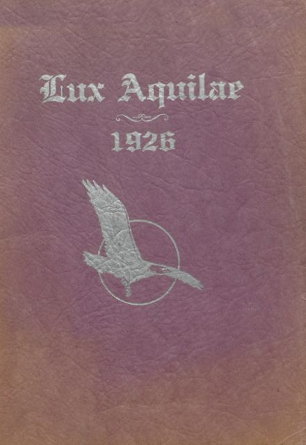 1926 Eagle Rock High School Yearbook Cover