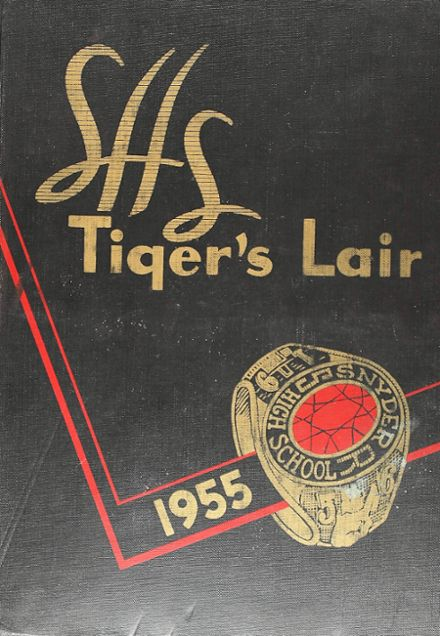 1955 Snyder High School Yearbook Cover