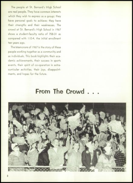 1967 St. Bernard's High School Yearbook Page 6