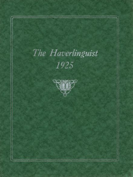 1925 Haverling High School Yearbook Cover