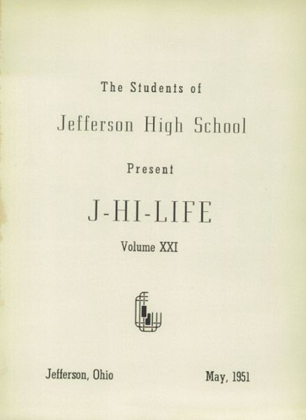 1951 Jefferson Area High School Yearbook Page 5
