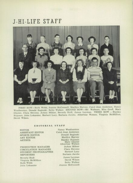 1951 Jefferson Area High School Yearbook Page 6