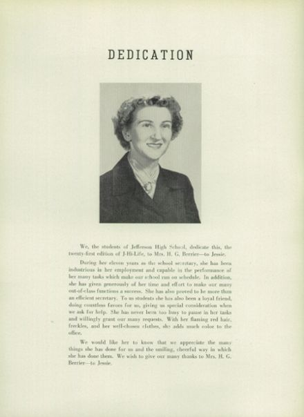 1951 Jefferson Area High School Yearbook Page 8