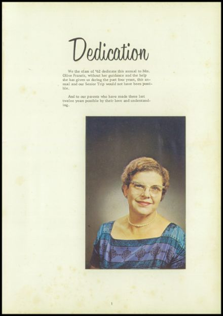 1962 Coalmont High School Yearbook Page 5