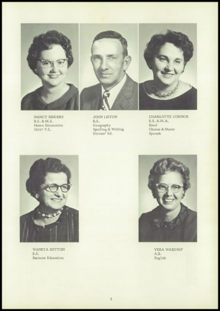 1962 Coalmont High School Yearbook Page 9