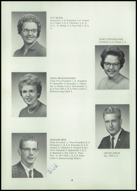 1962 Reeseville High School Yearbook Page 8