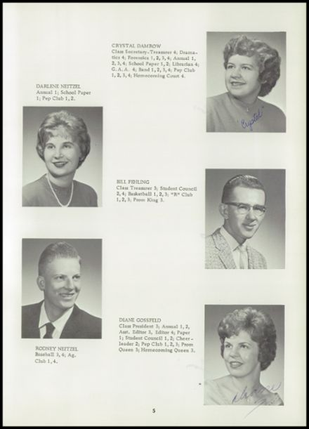 1962 Reeseville High School Yearbook Page 9