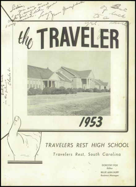 1953 Travelers Rest High School Yearbook Page 5