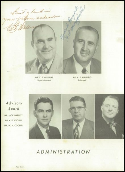1953 Travelers Rest High School Yearbook Page 8