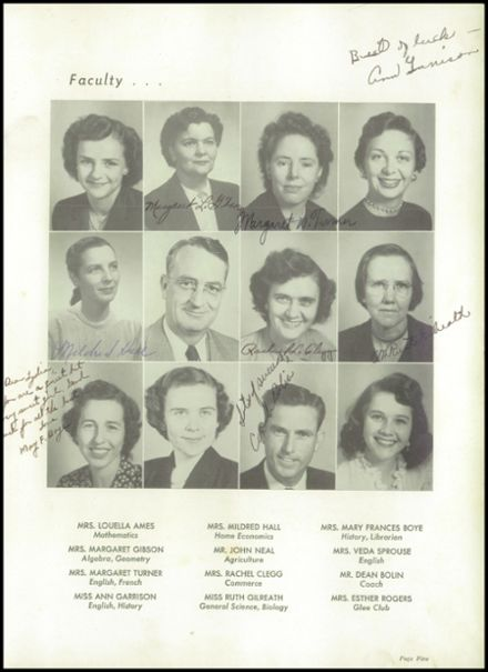 1953 Travelers Rest High School Yearbook Page 9