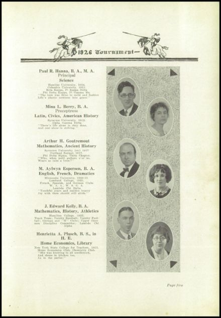 1926 West Winfield High School Yearbook Page 9