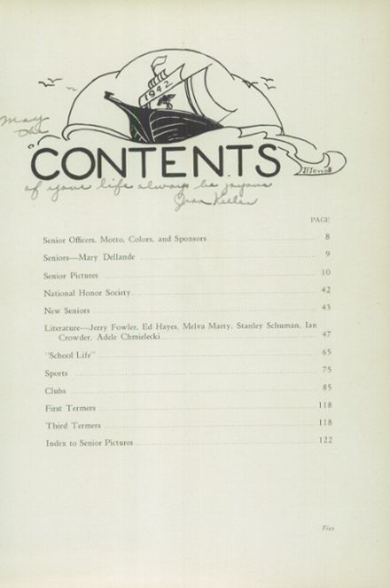 1942 Beaumont High School Yearbook Page 9