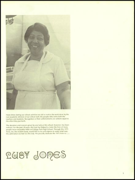 1975 College Park High School Yearbook Page 7