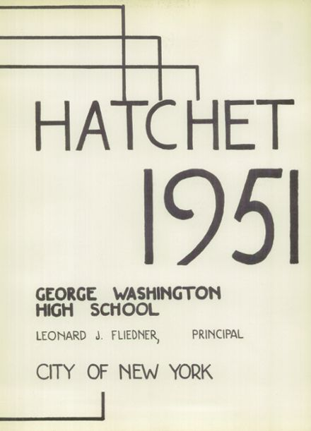 1951 George Washington High School Yearbook Page 7