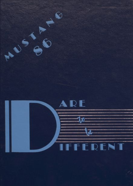 1986 Independence Christian High School Yearbook Cover