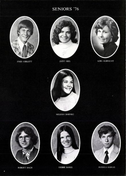 1976 Arrowhead High School Yearbook Page 8
