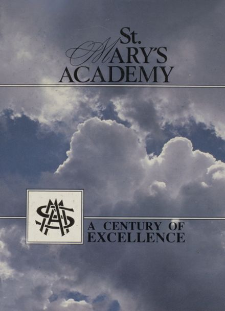 1989 St. Marys Academy Yearbook Cover
