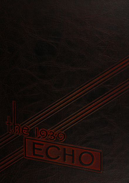 1939 Central Catholic High School Yearbook Cover