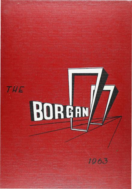1963 Borger High School Yearbook Cover