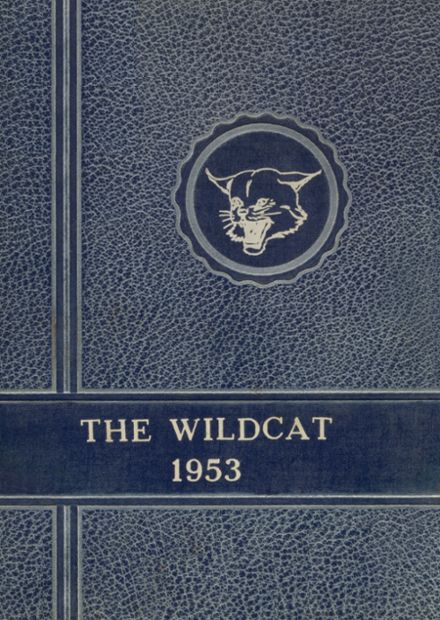 1953 Welch High School Yearbook Cover
