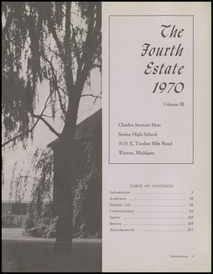 1970 Warren-Mott High School Yearbook Page 7