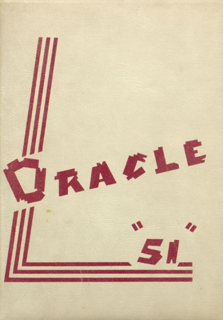 1951 Delphi Community High School Yearbook Cover