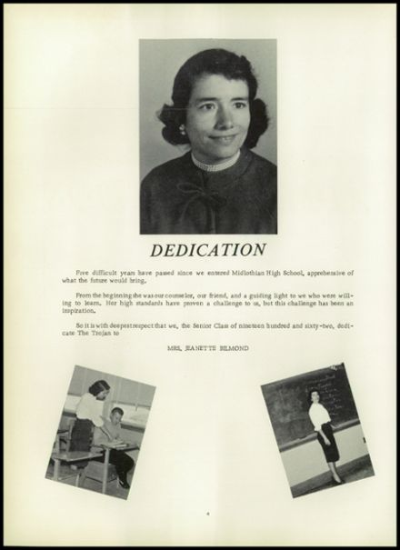 1962 Midlothian High School Yearbook Page 8