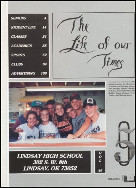 1995 Lindsay High School Yearbook Page 5