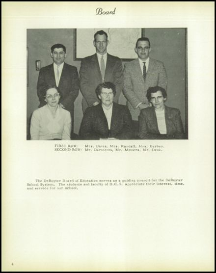 1958 DeRuyter Central High School Yearbook Page 8