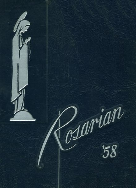 1958 Most Holy Rosary High School Yearbook Cover