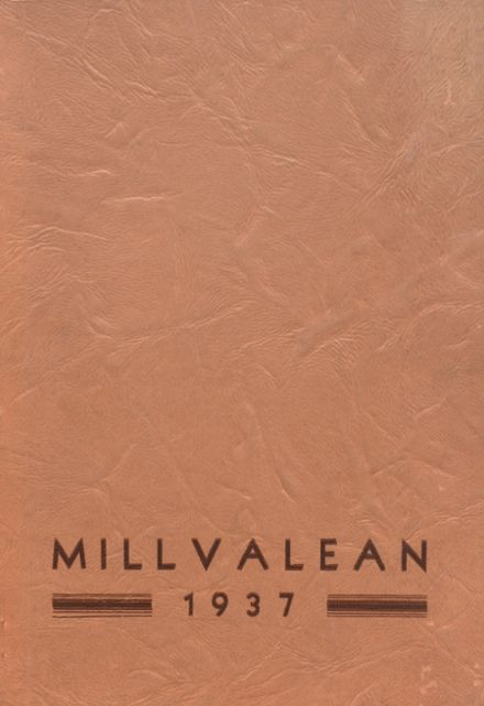 1937 Millvale High School Yearbook Cover