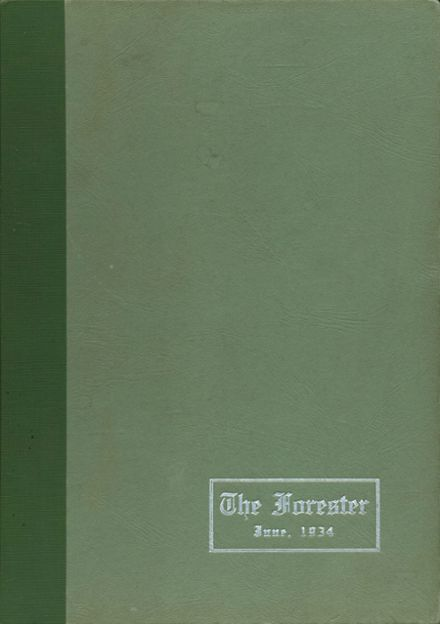1934 Forest Park High School 406 Yearbook Cover