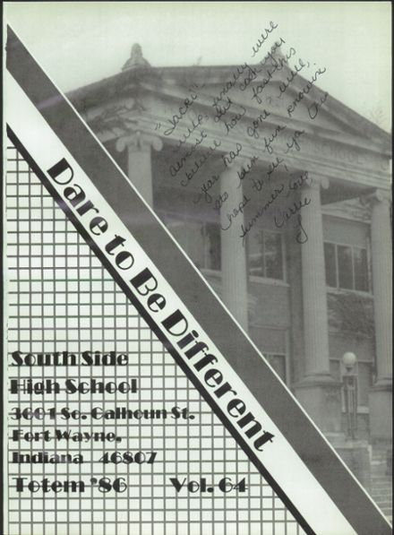 1986 South Side High School Yearbook Page 5