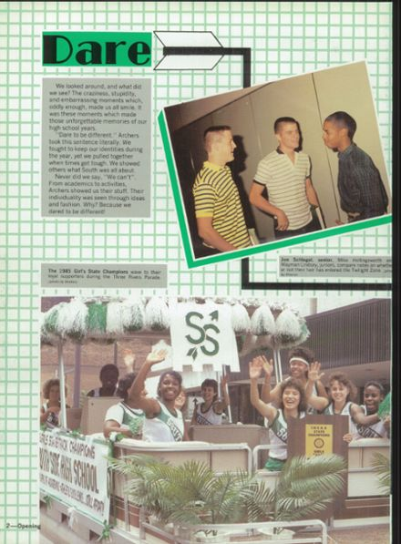 1986 South Side High School Yearbook Page 6