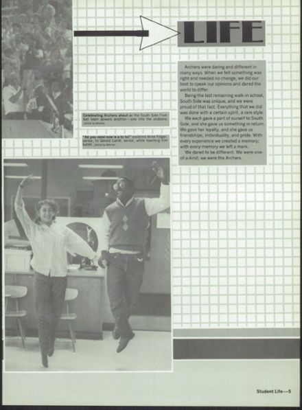 1986 South Side High School Yearbook Page 9