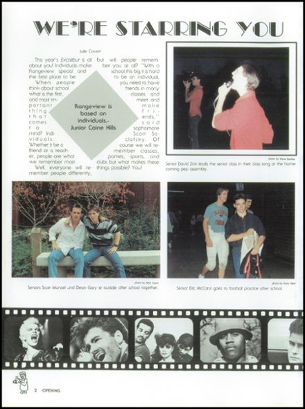 1988 Rangeview High School Yearbook Page 6