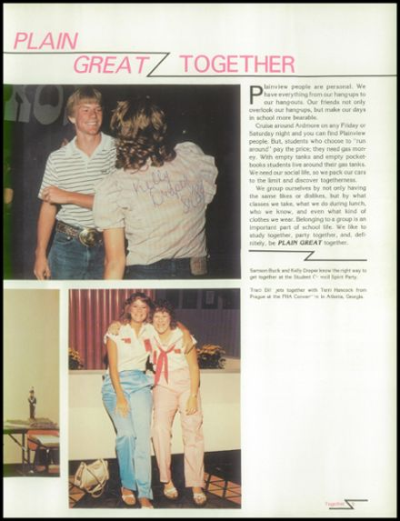 1983 Plainview High School Yearbook Page 9