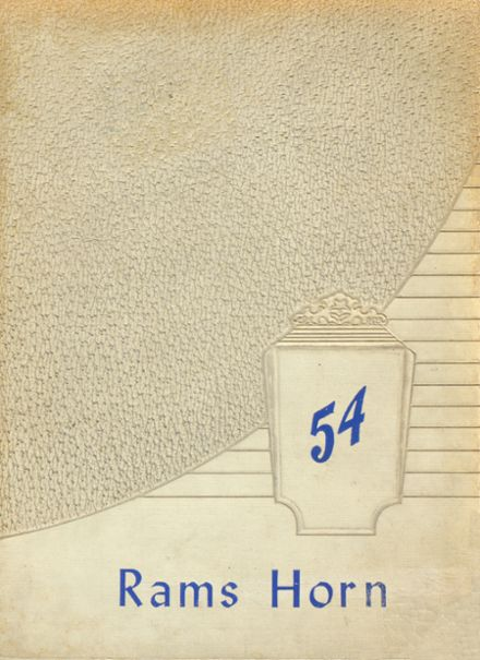 1954 Ramsay High School Yearbook Cover