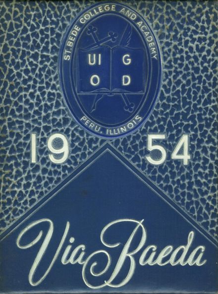 1954 St. Bede Academy Yearbook Cover